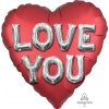 "18"" Foil Cuore I Love You Satin Lettere"
