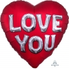Jumbo Cuore I Love You Satin Lettere
